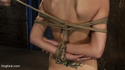Photo number 5 from BONDAGE TUTORIAL<br> Learn the fundamentals of rope bondage. Step by step video instructions.  shot for Hogtied on Kink.com. Featuring Isis Love and Haley Cummings in hardcore BDSM & Fetish porn.