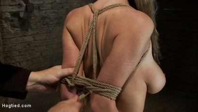 Photo number 12 from ROPE TUTORIAL <br>Part two, we show the wrist tie anchored to a crotch rope. Plus a full arm tie!  shot for Hogtied on Kink.com. Featuring Isis Love and Haley Cummings in hardcore BDSM & Fetish porn.