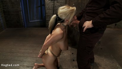 Photo number 10 from ROPE TUTORIAL <br>Part two, we show the wrist tie anchored to a crotch rope. Plus a full arm tie!  shot for Hogtied on Kink.com. Featuring Isis Love and Haley Cummings in hardcore BDSM & Fetish porn.