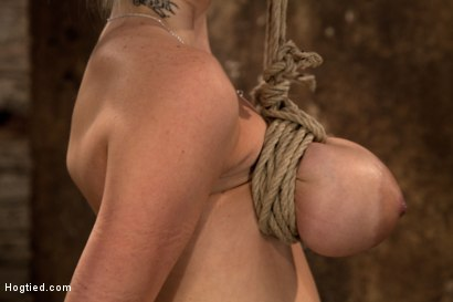 Photo number 3 from BONDAGE TUTORIAL: Part 3 of 4.   Today we teach you how to bind, & wrap breasts properly & safely. shot for Hogtied on Kink.com. Featuring Isis Love and Haley Cummings in hardcore BDSM & Fetish porn.