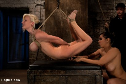 Photo number 9 from BONDAGE TUTORIAL: Part 3 of 4.   Today we teach you how to bind, & wrap breasts properly & safely. shot for Hogtied on Kink.com. Featuring Isis Love and Haley Cummings in hardcore BDSM & Fetish porn.