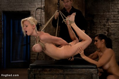 Photo number 10 from BONDAGE TUTORIAL: Part 3 of 4.<br>Today we teach you how to bind, & wrap breasts properly & safely. shot for Hogtied on Kink.com. Featuring Isis Love and Haley Cummings in hardcore BDSM & Fetish porn.