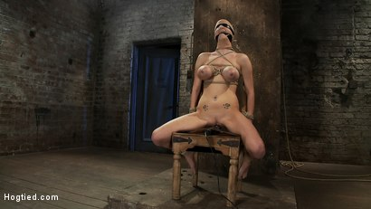 Photo number 11 from BONDAGE TUTORIAL: <br>How to properly do a chair tie, we also teach you the secret of the INSEX mask shot for Hogtied on Kink.com. Featuring Isis Love and Haley Cummings in hardcore BDSM & Fetish porn.