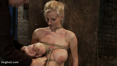Photo number 6 from BONDAGE TUTORIAL: <br>How to properly do a chair tie, we also teach you the secret of the INSEX mask shot for Hogtied on Kink.com. Featuring Isis Love and Haley Cummings in hardcore BDSM & Fetish porn.