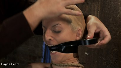 Photo number 8 from BONDAGE TUTORIAL: <br>How to properly do a chair tie, we also teach you the secret of the INSEX mask shot for Hogtied on Kink.com. Featuring Isis Love and Haley Cummings in hardcore BDSM & Fetish porn.