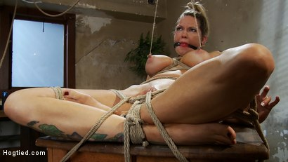 "Photo number 8 from ""THE RANSOM"" A Hogtied feature movie.<br> A fantasy BDSM abduction movie starring Rain DeGrey shot for Hogtied on Kink.com. Featuring Rain DeGrey and Maestro in hardcore BDSM & Fetish porn."