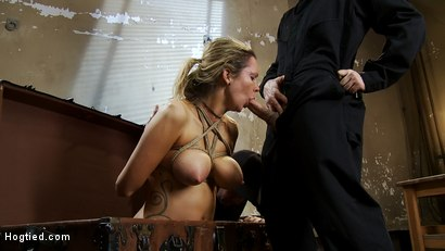 "Photo number 10 from ""THE RANSOM"" A Hogtied feature movie.<br> A fantasy BDSM abduction movie starring Rain DeGrey shot for Hogtied on Kink.com. Featuring Rain DeGrey and Maestro in hardcore BDSM & Fetish porn."
