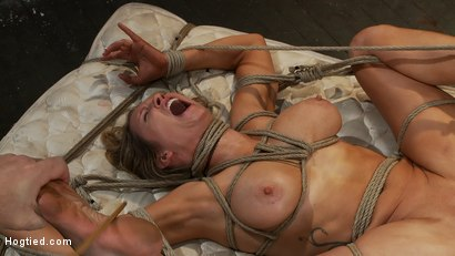 "Photo number 13 from ""THE RANSOM"" A Hogtied feature movie.<br> A fantasy BDSM abduction movie starring Rain DeGrey shot for Hogtied on Kink.com. Featuring Rain DeGrey and Maestro in hardcore BDSM & Fetish porn."