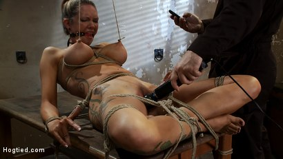 "Photo number 7 from ""THE RANSOM"" A Hogtied feature movie.<br> A fantasy BDSM abduction movie starring Rain DeGrey shot for Hogtied on Kink.com. Featuring Rain DeGrey and Maestro in hardcore BDSM & Fetish porn."