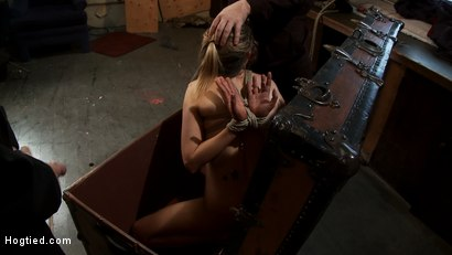 "Photo number 9 from ""THE RANSOM"" A Hogtied feature movie.<br> A fantasy BDSM abduction movie starring Rain DeGrey shot for Hogtied on Kink.com. Featuring Rain DeGrey and Maestro in hardcore BDSM & Fetish porn."