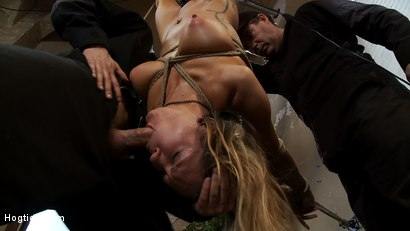 "Photo number 5 from ""THE RANSOM"" A Hogtied feature movie.<br> A fantasy BDSM abduction movie starring Rain DeGrey shot for Hogtied on Kink.com. Featuring Rain DeGrey and Maestro in hardcore BDSM & Fetish porn."