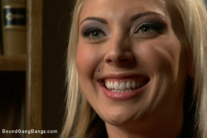 Photo number 15 from Blackmailed  shot for Bound Gang Bangs on Kink.com. Featuring Skylar Price in hardcore BDSM & Fetish porn.