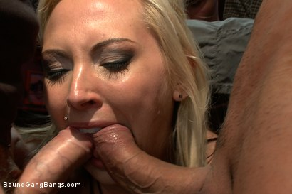Photo number 4 from Blackmailed  shot for Bound Gang Bangs on Kink.com. Featuring Skylar Price in hardcore BDSM & Fetish porn.