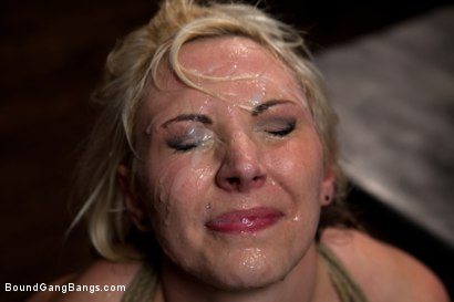 Photo number 14 from Blackmailed  shot for Bound Gang Bangs on Kink.com. Featuring Skylar Price in hardcore BDSM & Fetish porn.