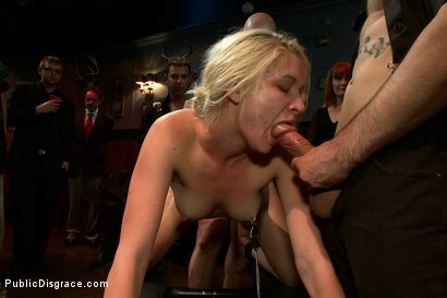 Photo number 11 from Tall Blonde Amateur Gets Fucked While Wearing Blackout Contact Lenses - She Can't See a Thing!! shot for Public Disgrace on Kink.com. Featuring Mark Davis, Natasha Lyn and Princess Donna Dolore in hardcore BDSM & Fetish porn.