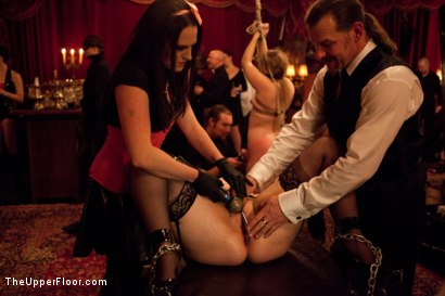 Photo number 1 from Six Slaves shot for The Upper Floor on Kink.com. Featuring Jessie Cox, Iona Grace, Sparky Sin Claire, Cheyenne Jewel, Nicki Blue and Lilla Katt in hardcore BDSM & Fetish porn.