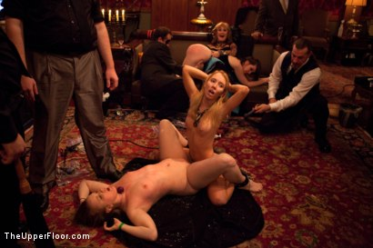 Photo number 16 from Six Slaves shot for The Upper Floor on Kink.com. Featuring Jessie Cox, Iona Grace, Sparky Sin Claire, Cheyenne Jewel, Nicki Blue and Lilla Katt in hardcore BDSM & Fetish porn.