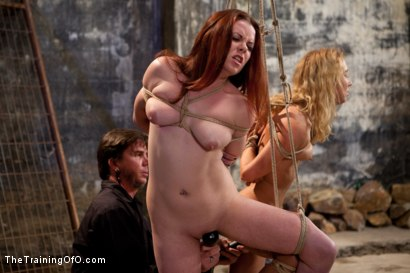 Photo number 13 from Day 2 March Intake<br>The Final Two are Selected shot for The Training Of O on Kink.com. Featuring Lilla Katt, Nicki Blue, Shae Simone, Juliette March, Alexxa Bound and Jade Taylor in hardcore BDSM & Fetish porn.