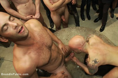 Photo number 11 from Drake Jaden swallows Girth Brooks' giant cock at the Armory party. shot for Bound in Public on Kink.com. Featuring Girth Brooks and Drake Jaden in hardcore BDSM & Fetish porn.