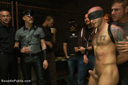 Photo number 1 from Drake Jaden swallows Girth Brooks' giant cock at the Armory party. shot for Bound in Public on Kink.com. Featuring Girth Brooks and Drake Jaden in hardcore BDSM & Fetish porn.