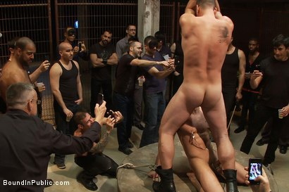 Photo number 12 from Drake Jaden swallows Girth Brooks' giant cock at the Armory party. shot for Bound in Public on Kink.com. Featuring Girth Brooks and Drake Jaden in hardcore BDSM & Fetish porn.