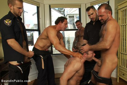 Photo number 5 from Perverted Punishment - Ethan Hudson shot for Bound in Public on Kink.com. Featuring Josh West and Ethan Hudson in hardcore BDSM & Fetish porn.