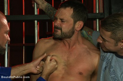 Photo number 2 from Inside Mack Prison - Sex Club shot for Bound in Public on Kink.com. Featuring Will Swagger and Josh West in hardcore BDSM & Fetish porn.