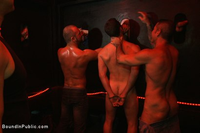 Photo number 6 from Inside Mack Prison - Sex Club shot for Bound in Public on Kink.com. Featuring Will Swagger and Josh West in hardcore BDSM & Fetish porn.
