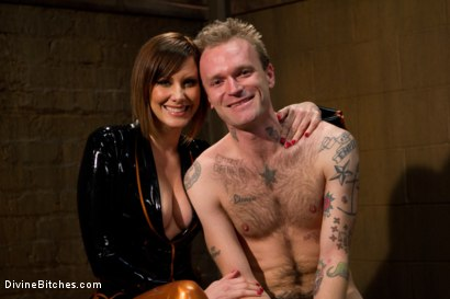 Photo number 1 from Ode to Men In Pain Part 2: The Madeline Era shot for Divine Bitches on Kink.com. Featuring Riley Vlcek and Maitresse Madeline Marlowe in hardcore BDSM & Fetish porn.
