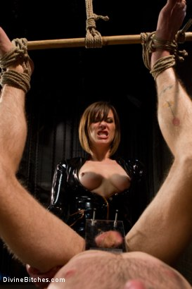 Photo number 8 from Ode to Men In Pain Part 2: The Madeline Era shot for Divine Bitches on Kink.com. Featuring Riley Vlcek and Maitresse Madeline Marlowe in hardcore BDSM & Fetish porn.