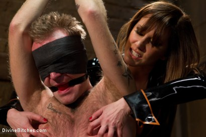 Photo number 4 from Ode to Men In Pain Part 2: The Madeline Era shot for Divine Bitches on Kink.com. Featuring Riley Vlcek and Maitresse Madeline Marlowe in hardcore BDSM & Fetish porn.