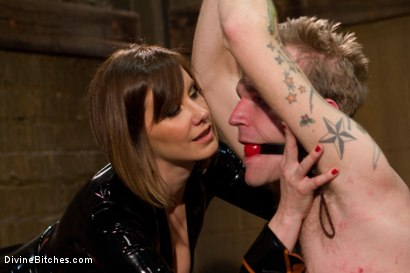 Photo number 13 from Ode to Men In Pain Part 2: The Madeline Era shot for Divine Bitches on Kink.com. Featuring Riley Vlcek and Maitresse Madeline Marlowe in hardcore BDSM & Fetish porn.