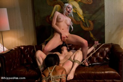 Photo number 6 from Kinky lesbian art teacher punishes and ass fucks two of her students! shot for Whipped Ass on Kink.com. Featuring Violet Monroe, Lorelei Lee and Skin Diamond in hardcore BDSM & Fetish porn.