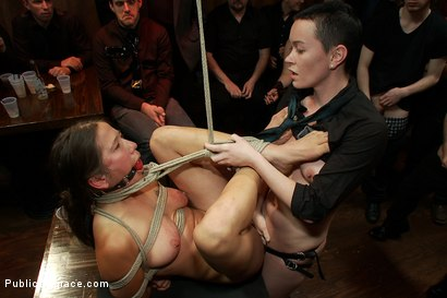 Photo number 11 from Hot Amateur SQUIRTER Does her First Boy/Girl Sex Scene Ever and Cums in Front of a Large Crowd shot for Public Disgrace on Kink.com. Featuring James Deen, Vai and Princess Donna Dolore in hardcore BDSM & Fetish porn.