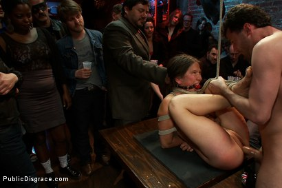 Photo number 13 from Hot Amateur SQUIRTER Does her First Boy/Girl Sex Scene Ever and Cums in Front of a Large Crowd shot for Public Disgrace on Kink.com. Featuring James Deen, Vai and Princess Donna Dolore in hardcore BDSM & Fetish porn.