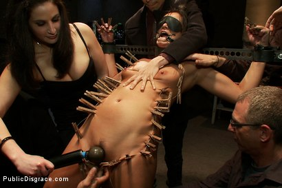 Photo number 2 from Pushed to the Limit With Uncontrollable Orgasms <br>Made to Cum Over and Over by Strangers shot for Public Disgrace on Kink.com. Featuring James Deen, Cece Stone and Princess Donna Dolore in hardcore BDSM & Fetish porn.
