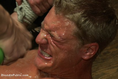 Photo number 6 from Blond Muscle Stud <br> Blindfolded, flogged, humiliated and fucked in  shot for Bound in Public on Kink.com. Featuring Gavin Waters and Christian Wilde in hardcore BDSM & Fetish porn.