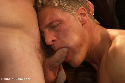 Photo number 8 from Blond Muscle Stud <br> Blindfolded, flogged, humiliated and fucked in  shot for Bound in Public on Kink.com. Featuring Gavin Waters and Christian Wilde in hardcore BDSM & Fetish porn.