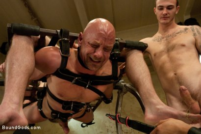 Photo number 8 from The Sinner - Live Shoot shot for Bound Gods on Kink.com. Featuring Ned Mayhem, Christian Wilde, Van Darkholme and Chad Rock in hardcore BDSM & Fetish porn.