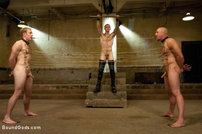 Photo number 11 from The Sinner - Live Shoot shot for Bound Gods on Kink.com. Featuring Ned Mayhem, Christian Wilde, Van Darkholme and Chad Rock in hardcore BDSM & Fetish porn.