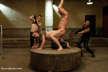 Photo number 2 from The Sinner - Live Shoot shot for Bound Gods on Kink.com. Featuring Ned Mayhem, Christian Wilde, Van Darkholme and Chad Rock in hardcore BDSM & Fetish porn.