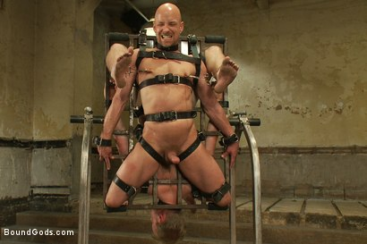 Photo number 7 from The Sinner - Live Shoot shot for Bound Gods on Kink.com. Featuring Ned Mayhem, Christian Wilde, Van Darkholme and Chad Rock in hardcore BDSM & Fetish porn.