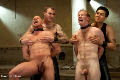 Photo number 9 from The Sinner - Live Shoot shot for Bound Gods on Kink.com. Featuring Ned Mayhem, Christian Wilde, Van Darkholme and Chad Rock in hardcore BDSM & Fetish porn.