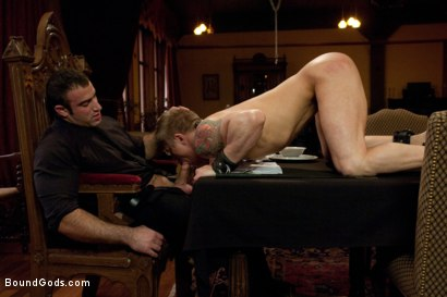 Photo number 5 from Spencer Reed and Phillip Aubrey Part Two<br/>Real Life Couple Series shot for Bound Gods on Kink.com. Featuring Spencer Reed and Phillip Aubrey in hardcore BDSM & Fetish porn.