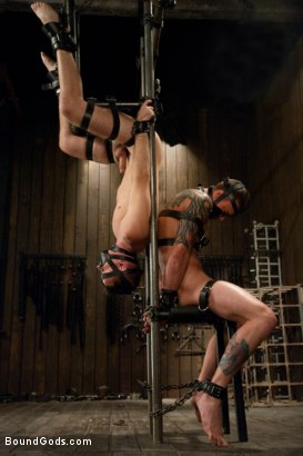 Photo number 6 from Cliff Jensen bound and beaten for the first time. shot for Bound Gods on Kink.com. Featuring Cliff Jensen, Matthew Singer and Van Darkholme in hardcore BDSM & Fetish porn.