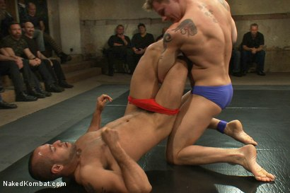 Photo number 1 from Trent Diesel & Sebastian Keys vs Leo Forte & DJ <br> Live Match shot for Naked Kombat on Kink.com. Featuring Leo Forte, Trent Diesel, DJ and Sebastian Keys in hardcore BDSM & Fetish porn.