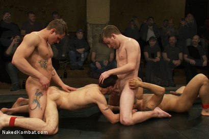 Photo number 14 from Trent Diesel & Sebastian Keys vs Leo Forte & DJ <br> Live Match shot for Naked Kombat on Kink.com. Featuring Leo Forte, Trent Diesel, DJ and Sebastian Keys in hardcore BDSM & Fetish porn.