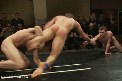 Photo number 8 from Trent Diesel & Sebastian Keys vs Leo Forte & DJ <br> Live Match shot for Naked Kombat on Kink.com. Featuring Leo Forte, Trent Diesel, DJ and Sebastian Keys in hardcore BDSM & Fetish porn.