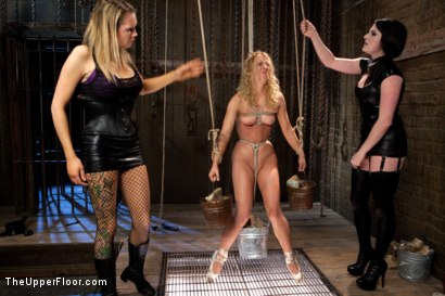 Photo number 13 from Nicki Blue's Destruction shot for The Upper Floor on Kink.com. Featuring Nicki Blue, Rain DeGrey and Sophie Monroe in hardcore BDSM & Fetish porn.