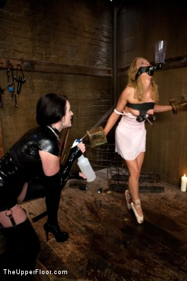 Photo number 4 from Nicki Blue's Destruction shot for The Upper Floor on Kink.com. Featuring Nicki Blue, Rain DeGrey and Sophie Monroe in hardcore BDSM & Fetish porn.